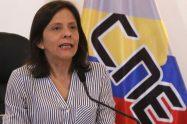 Sandra Oblitas, rectora del CNE