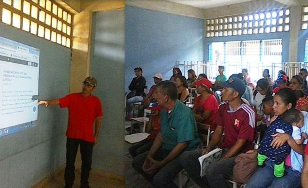 Comunicadores CLAP de la parroquia Tamaca (Lara) se reunieron el el Liceo Bolivariano de la localidad