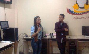 Lisbeth Toro y Luis Gerardo Suarez, facilitadores del Taller