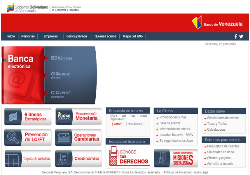 banco de venezuela ya tiene nueva plataforma digital mippci